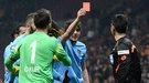 В Турции футболист показал красную карточку судье (+ Видео)