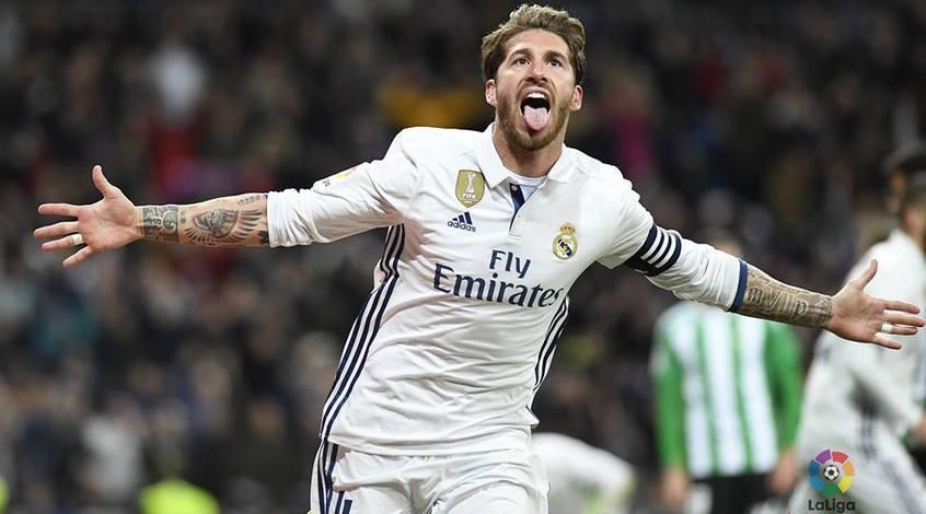 """""""Реал"""" - """"Барселона"""": коэффициент 6,70 на гол Серхио Рамоса"""