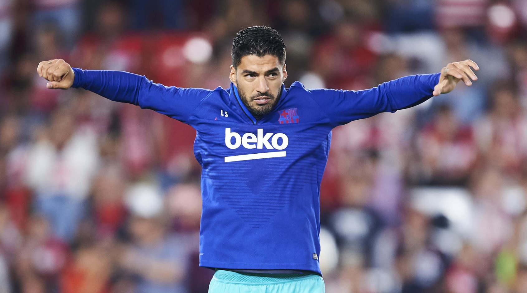 """Луис Суарес на тренировке """"Барселоны"""": """" Рад вернуться!"""""""
