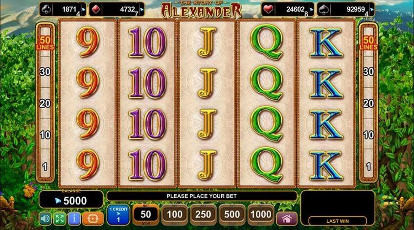 Игровой автомат Story of Alexander