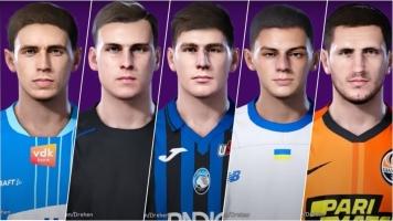 Лунин, Миколенко, Малиновский, Яремчук, Коваленко и еще 5 игроков сборной Украины получили реальные фейсы в PES 2020