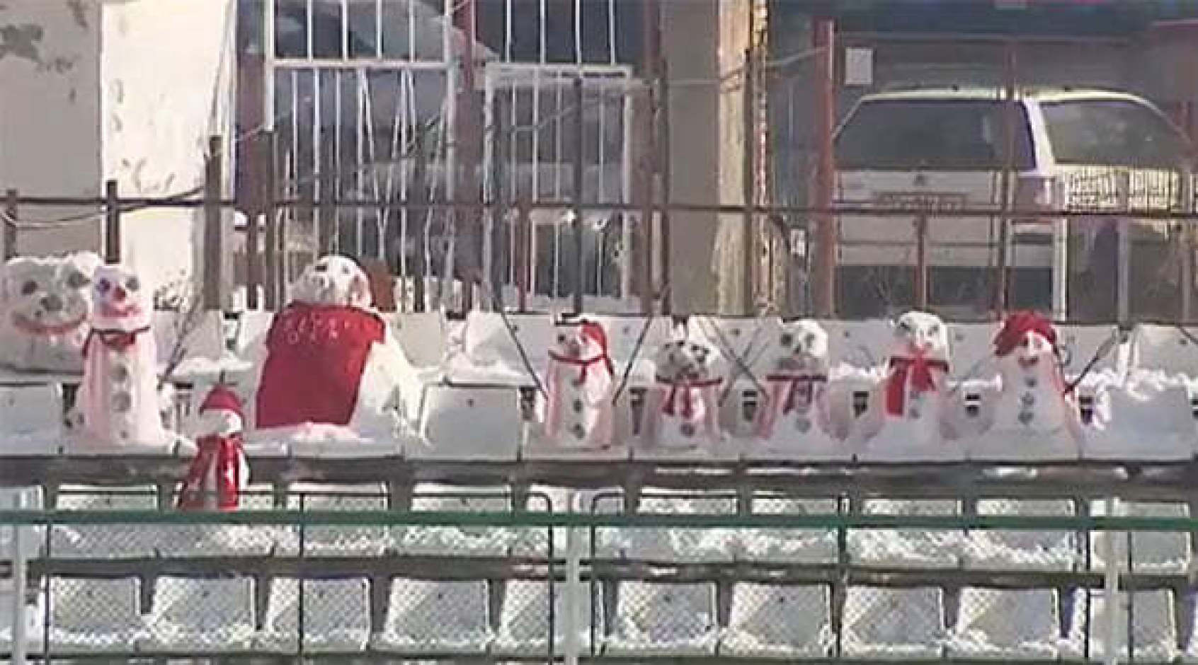 """За матчем """"Сепси"""" - """"Астра"""" на трибунах наблюдали снеговики вместо болельщиков"""