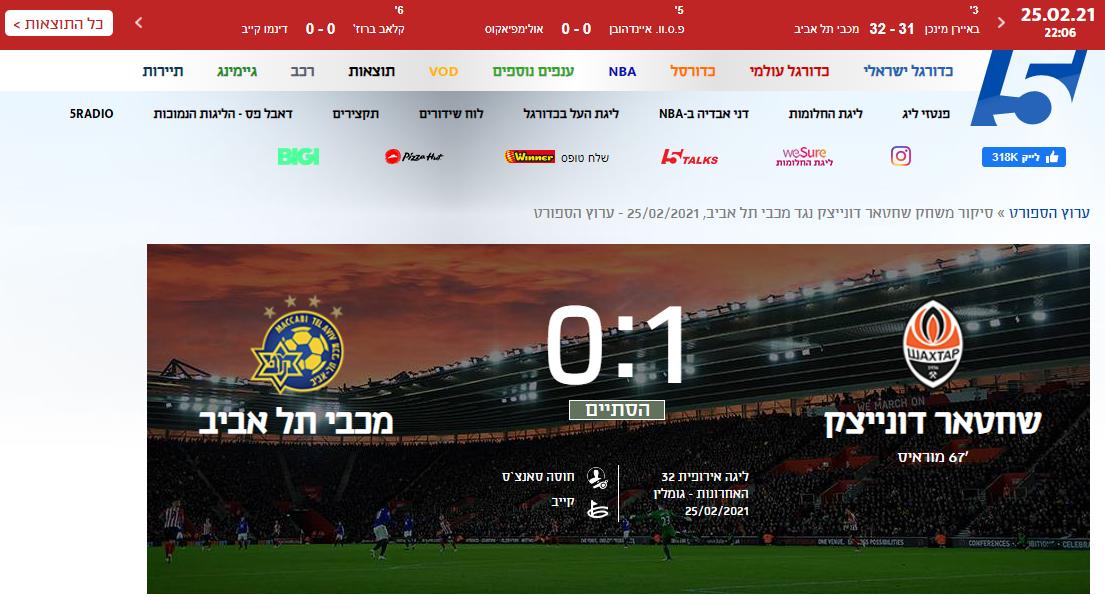 """""""Шахтер"""" - """"Маккаби"""": обзор израильских СМИ - изображение 1"""