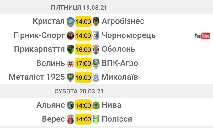 Первая лига. 17-й тур. Анонс матчей