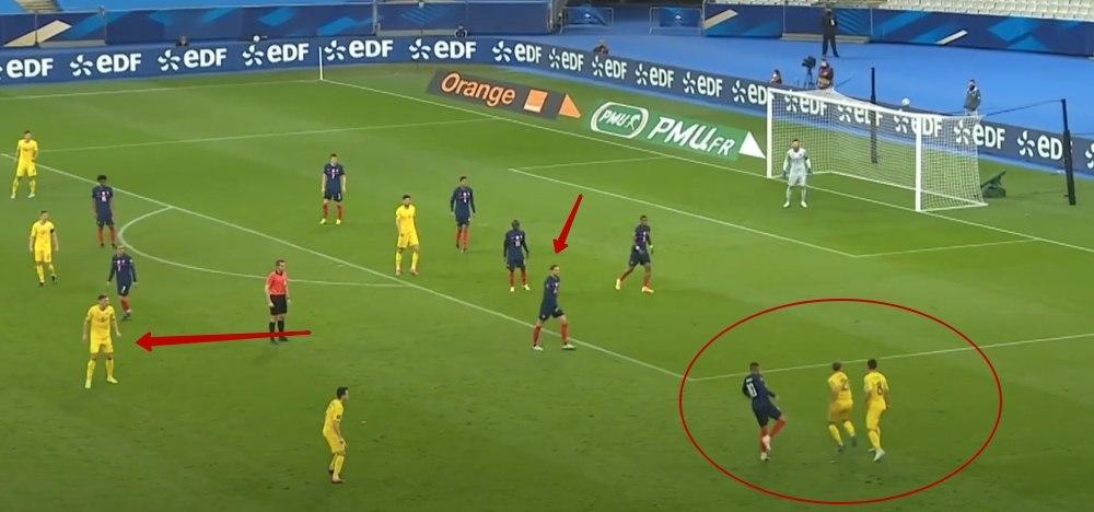 Франция - Украина в цифрах WyScout: сюрприз Шевченко, плотная оборона и голы в стиле FIFA 21 - изображение 19