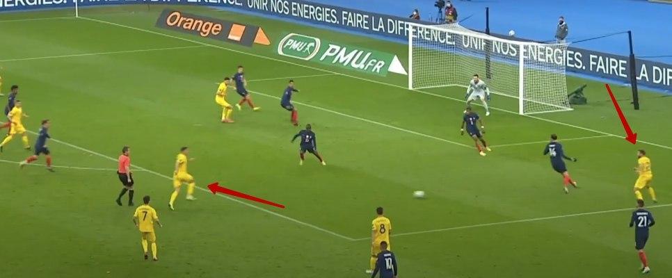 Франция - Украина в цифрах WyScout: сюрприз Шевченко, плотная оборона и голы в стиле FIFA 21 - изображение 20