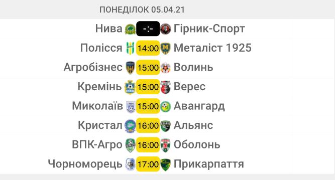 Первая лига. 20-й тур. Анонс матчей