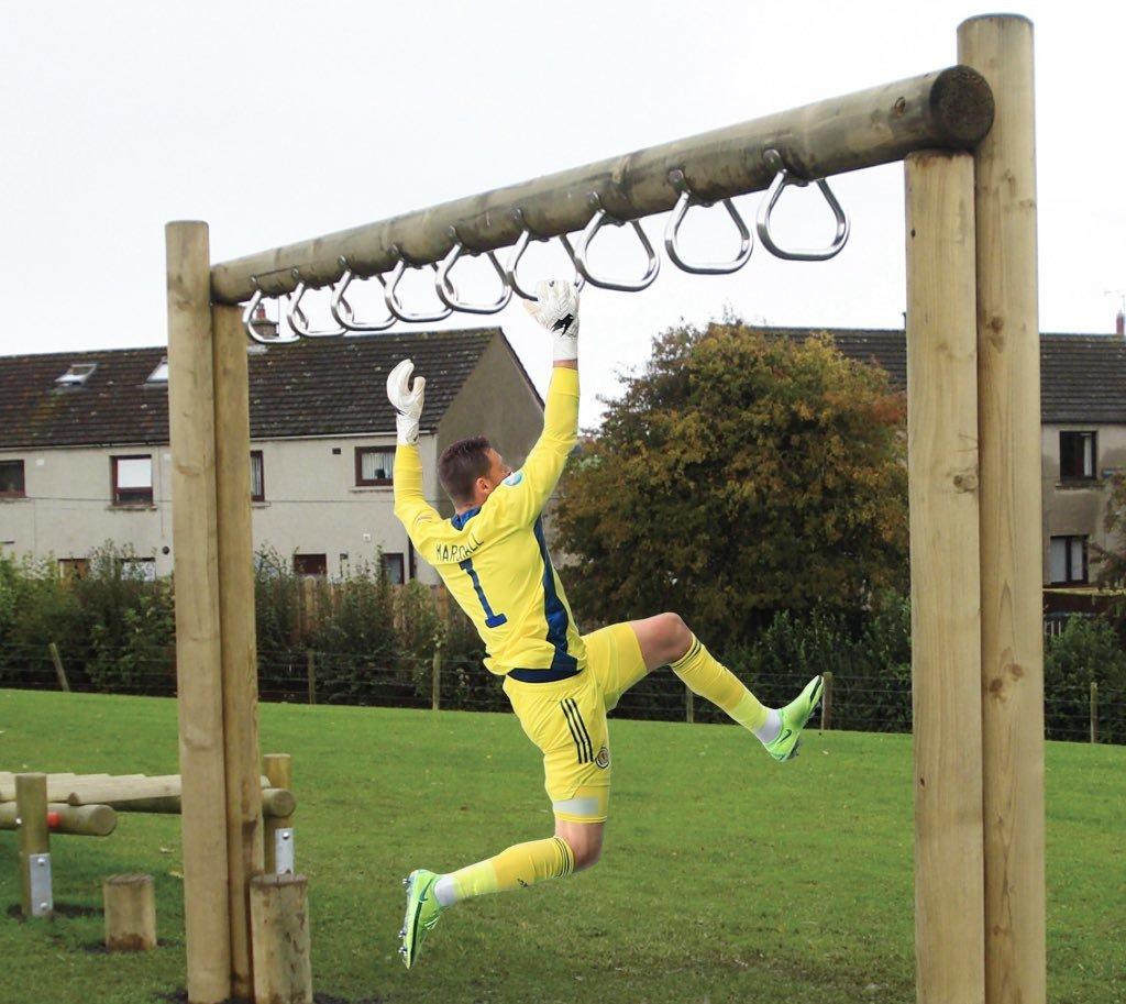 Прыжок вратаря сборной Шотландии Маршалла высмеяли в соцсетях после матча с Чехией (Фото) - изображение 14