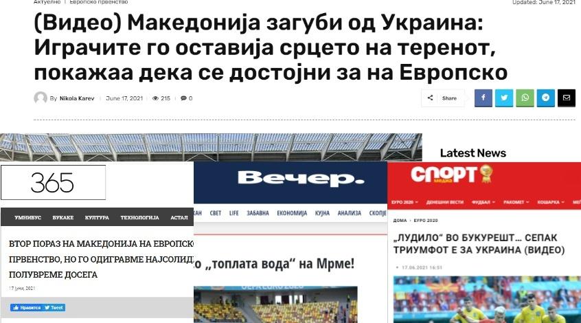 Украина – Северная Македония: обзор македонских СМИ