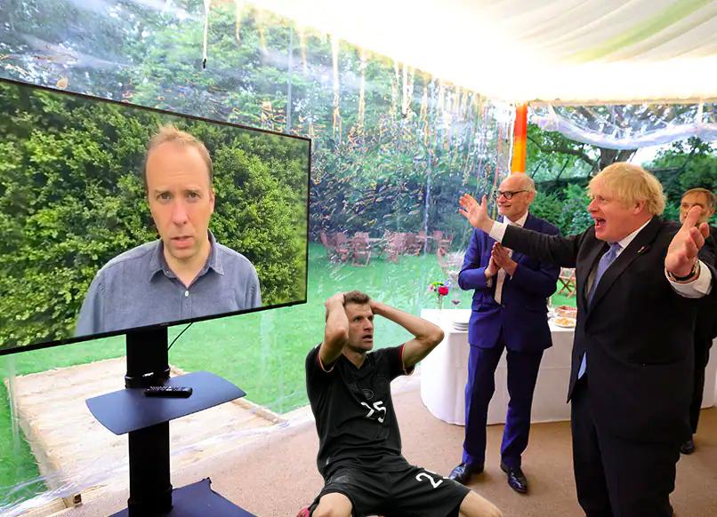 В соцсетях высмеяли промах Томаса Мюллера в матче с Англией (Фото) - изображение 4