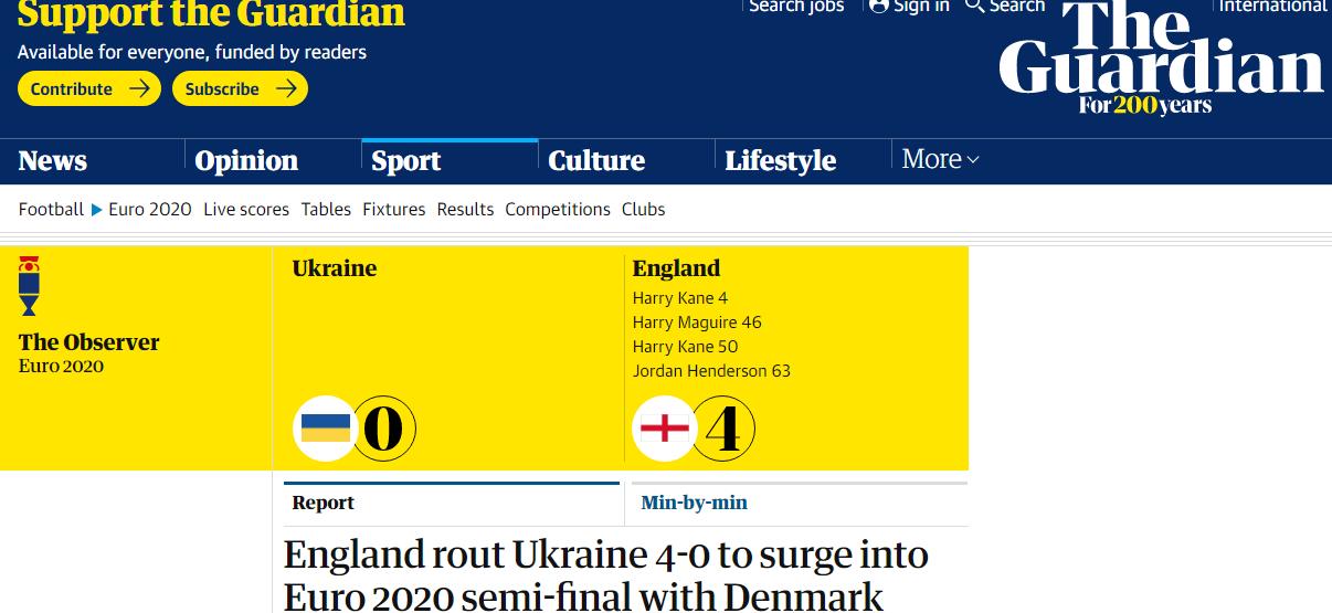 Украина – Англия: обзор британских СМИ - изображение 4