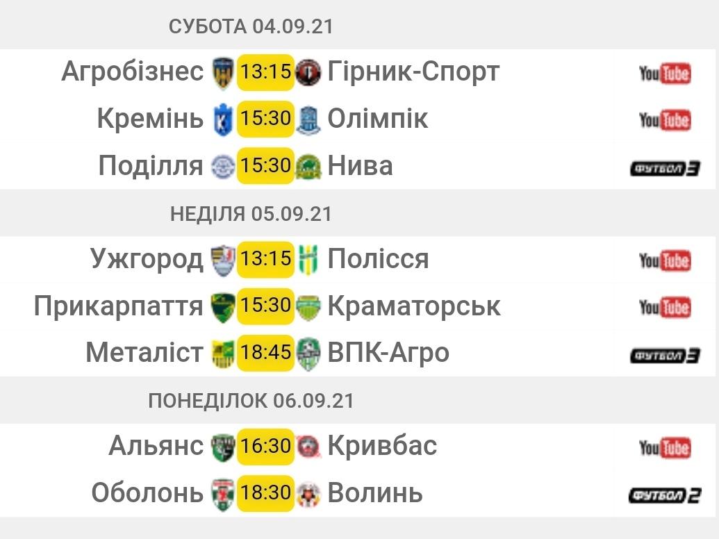 Первая лига. 7-й тур. Анонс матчей
