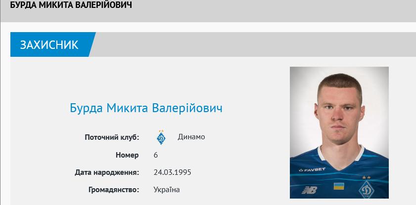 Микита Бурда змінив у «Динамо» номер - изображение 1