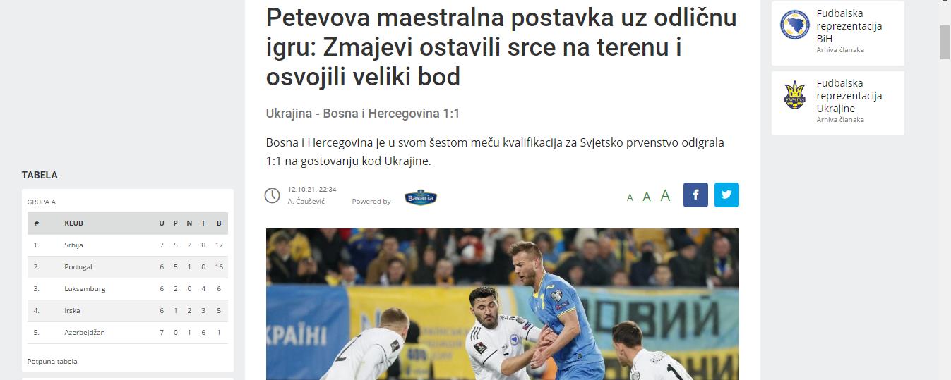 Украина – Босния: обзор боснийских СМИ - изображение 1