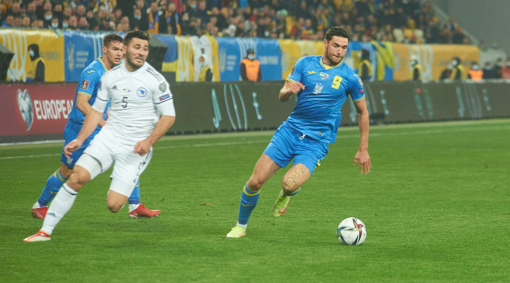 Украина - Босния: Яремчук ни разу не пробил по воротам, активность Матвиенко и Тымчика